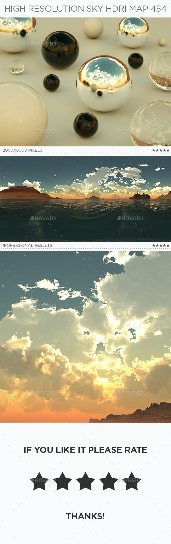 High Resolution Sky HDRi Map 454 - 3DOcean Item for Sale