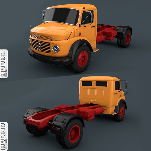 Mercedes-Benz Truck 1924-2624 Orange - 3DOcean Item for Sale