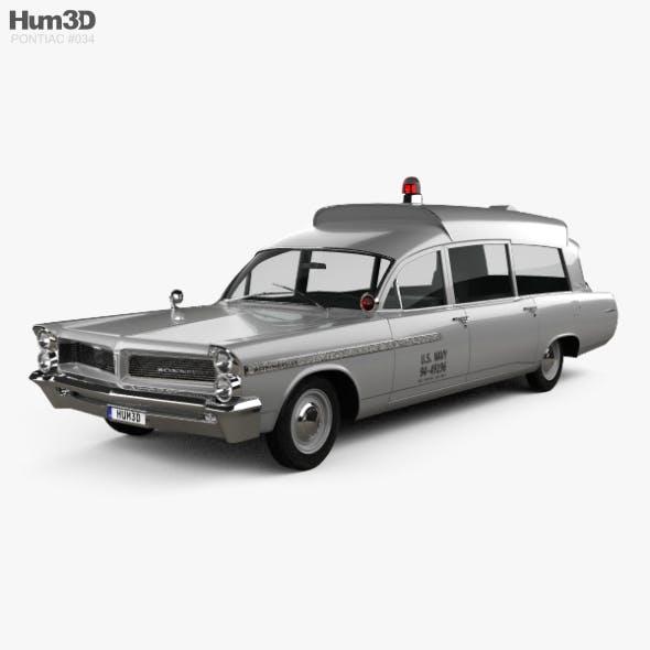 Pontiac Bonneville Station Wagon Ambulance Kennedy 1963 - 3DOcean Item for Sale