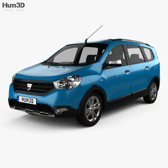 Dacia Lodgy Stepway 2014 - 3DOcean Item for Sale