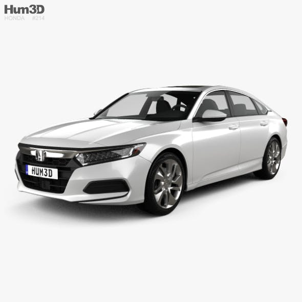 Honda Accord LX US-spec sedan 2018