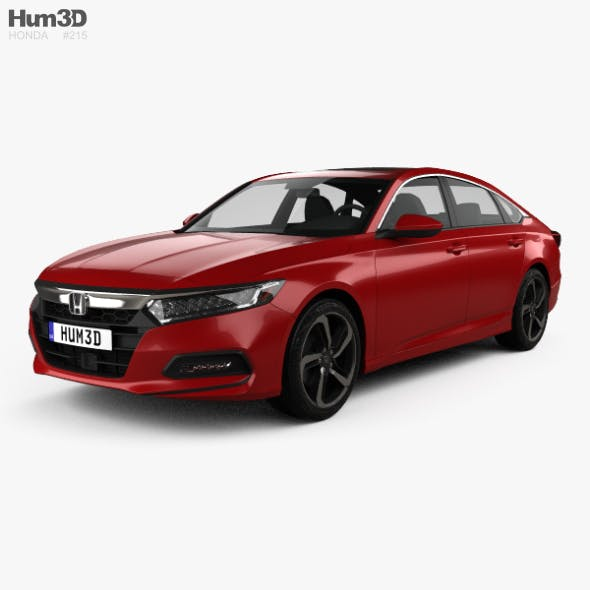 Honda Accord Sport US-spec sedan 2018 - 3DOcean Item for Sale