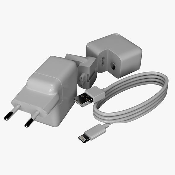 PHONE CHARGER SET >>>5 PIECES >>>LOW POLY - 3DOcean Item for Sale