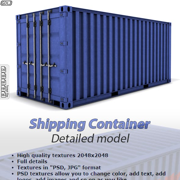 Shipping Container Detailed Model