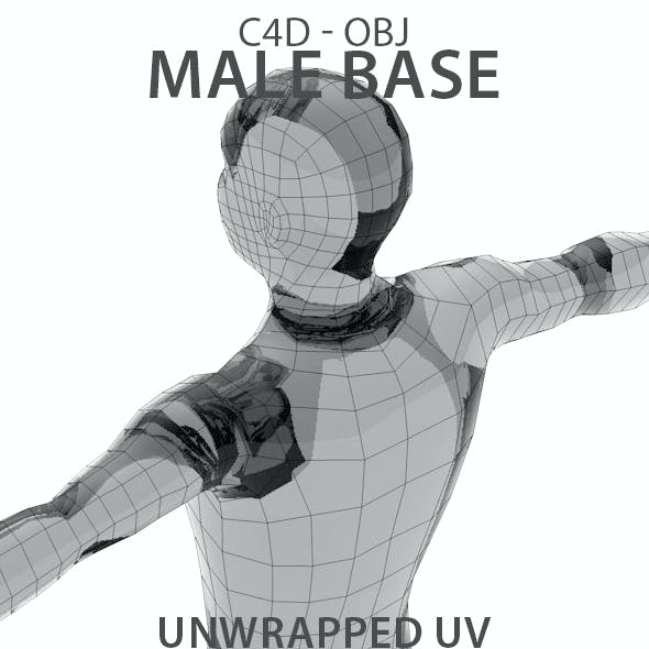 Unwrapped Male Base Mesh