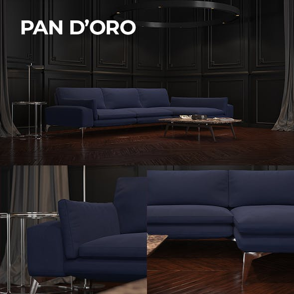 Pan d'oro Sofa - 3DOcean Item for Sale