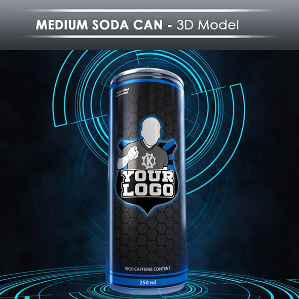 Soda Can Blender CG Textures & 3D Models from 3DOcean