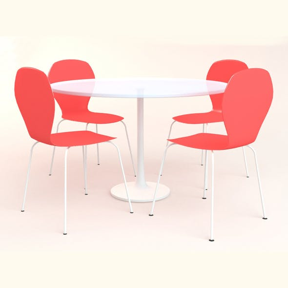 Round Table with Chair - 3DOcean Item for Sale