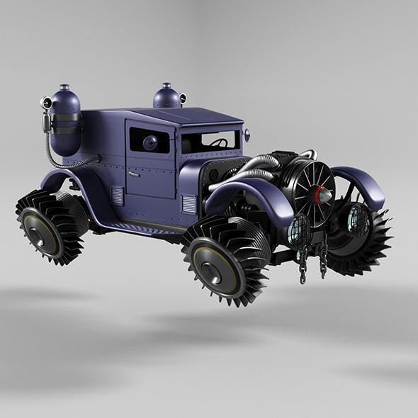 Retro Automobile Steampunk - 3DOcean Item for Sale