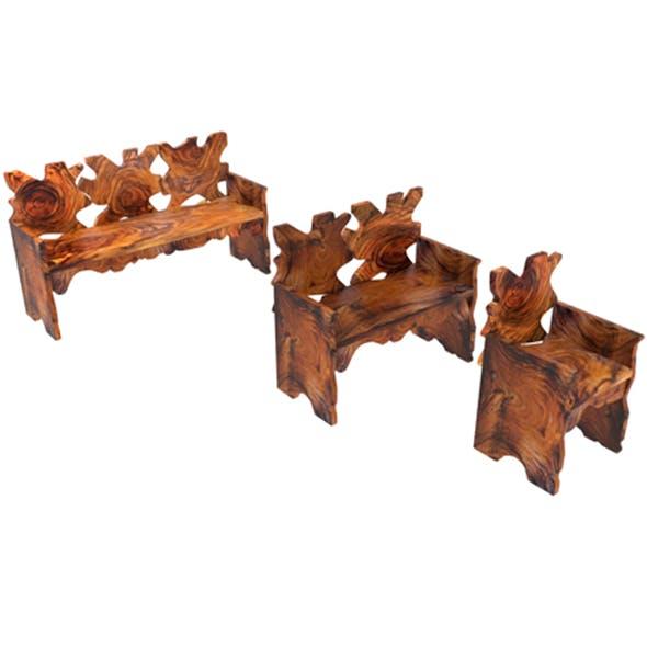Bench suar 1 - 3DOcean Item for Sale
