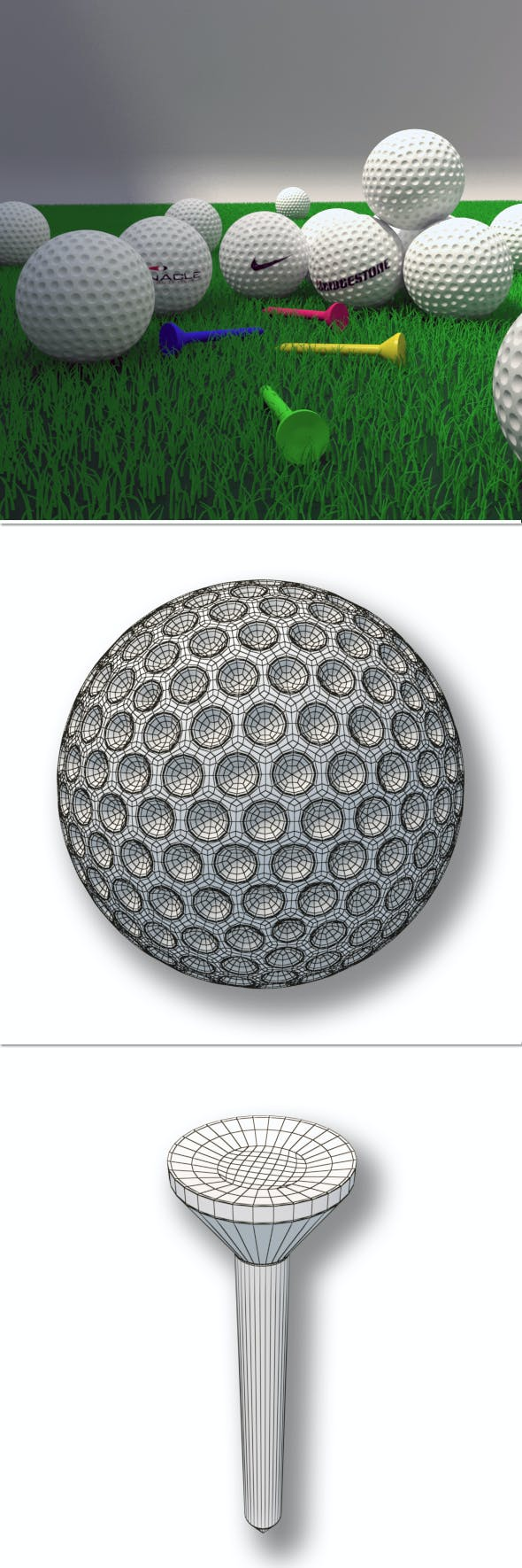 Golf Balls - 3DOcean Item for Sale