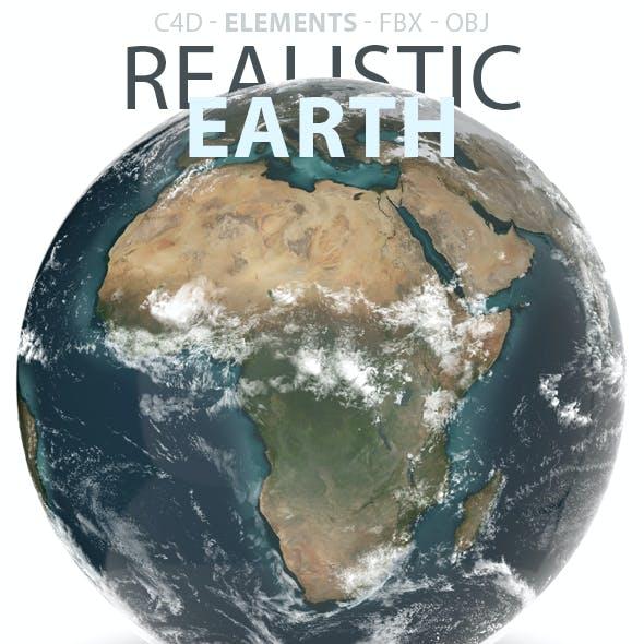 Planet Earth Realistic 3D Model