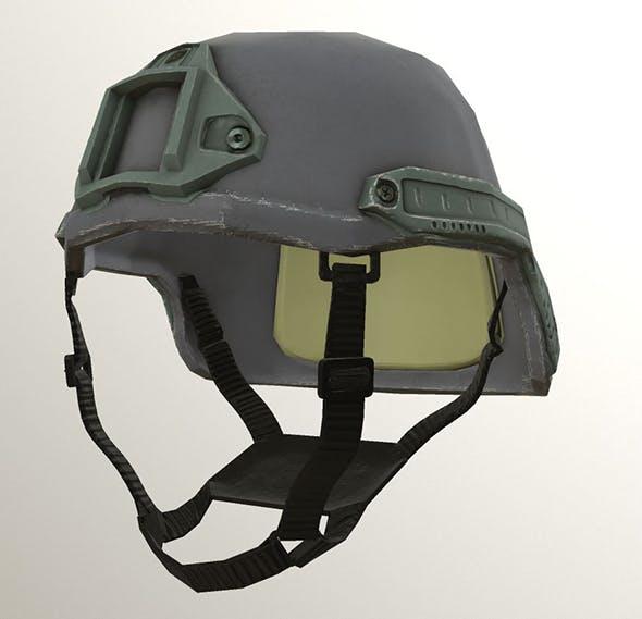 Low Poly PBR Helmet - 3DOcean Item for Sale