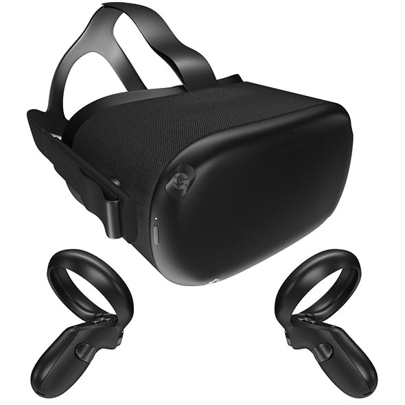 Oculus Quest with Controllers - 3DOcean Item for Sale