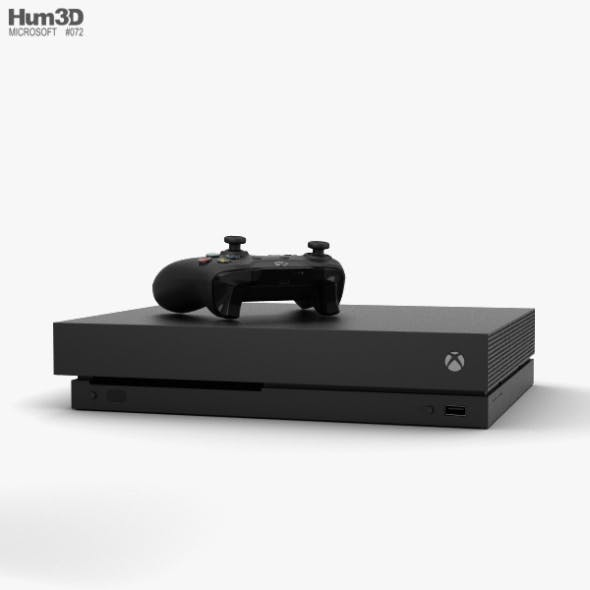 Microsoft Xbox One X - 3DOcean Item for Sale