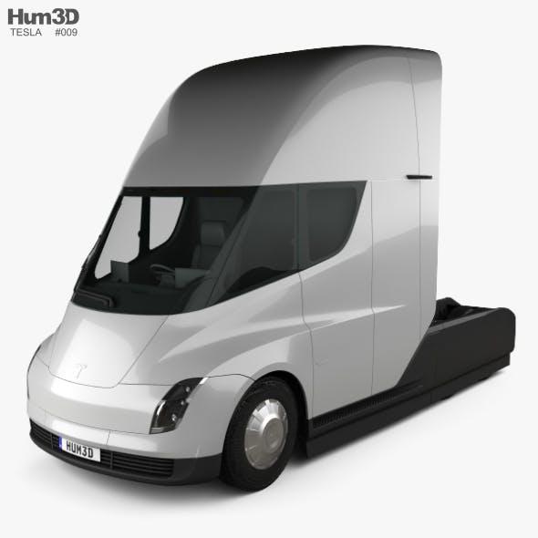 Tesla Semi Sleeper Cab Tractor Truck 2018 - 3DOcean Item for Sale