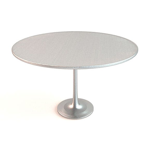 Metal Round Table - 3DOcean Item for Sale