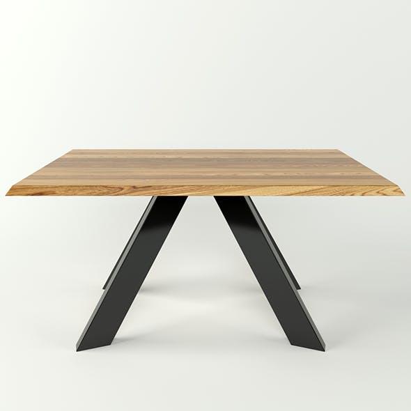 Simple wood dinner table