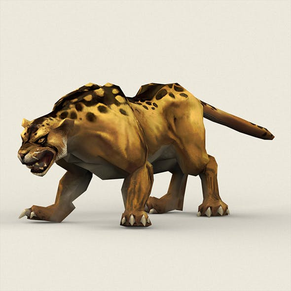 Fantasy Leopard - 3DOcean Item for Sale