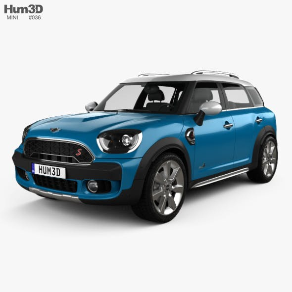 Mini Cooper Countryman S ALL4 2017 - 3DOcean Item for Sale