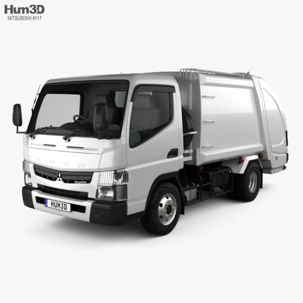 Mitsubishi Fuso Canter Shinmaywa Garbage Truck 2017 - 3DOcean Item for Sale
