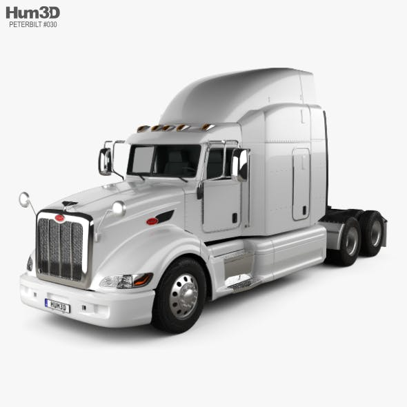 Peterbilt 386 Sleeper Cab Tractor Truck 2010 - 3DOcean Item for Sale