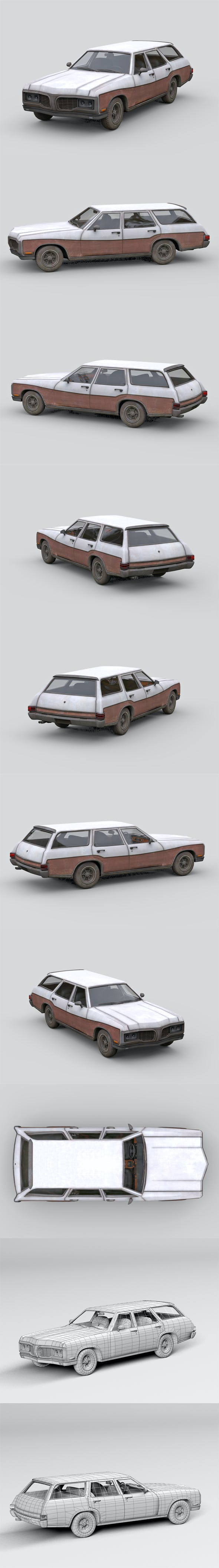 Old generic Car - 3DOcean Item for Sale