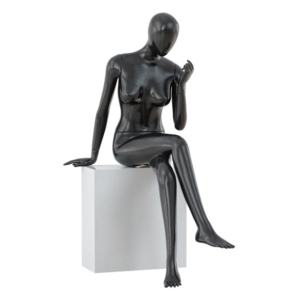 Abstract sitting woman mannequin 02