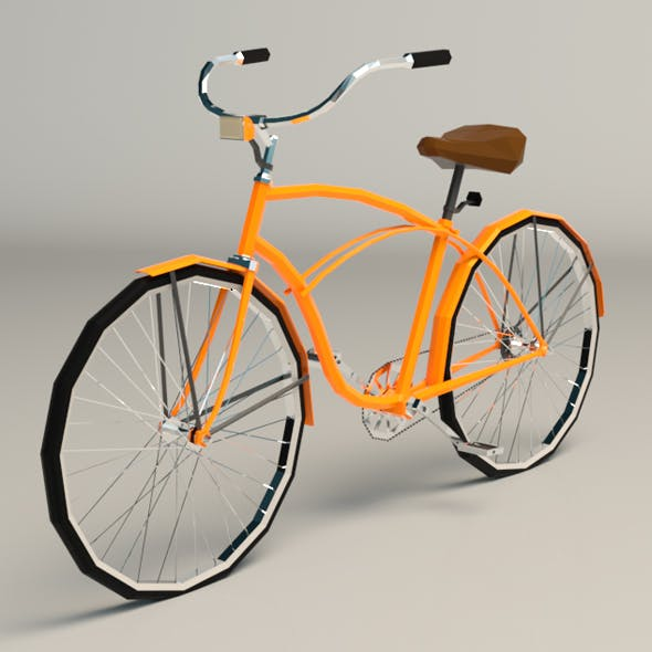 Low Poly Vintage Cruiser Bike