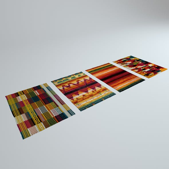 4 Colorful Rugs