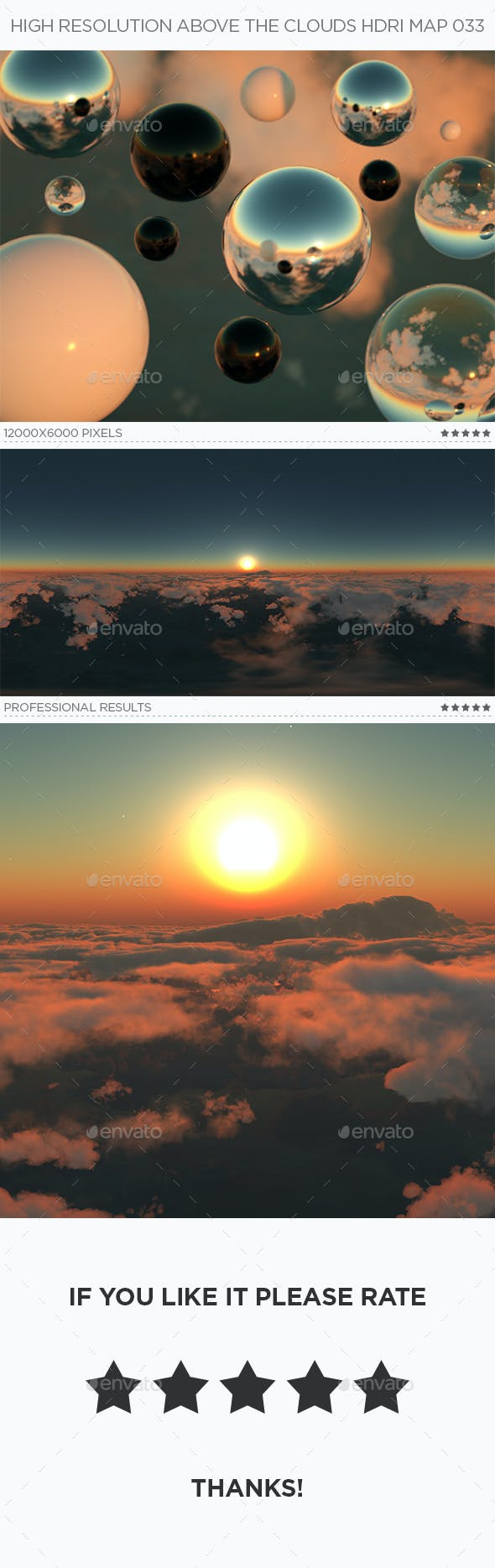 High Resolution Above The Clouds HDRi Map 033 - 3DOcean Item for Sale