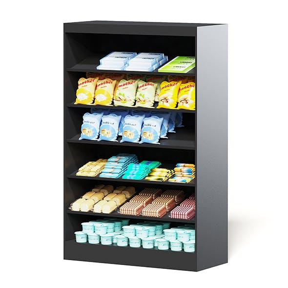 Market Shelf 3D Model - Snacks