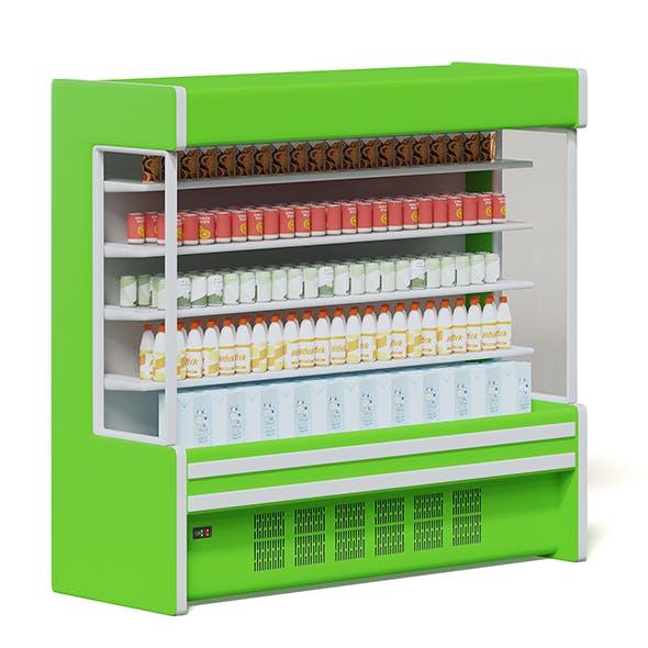 Green Market Fridge 3D Model - 3DOcean Item for Sale