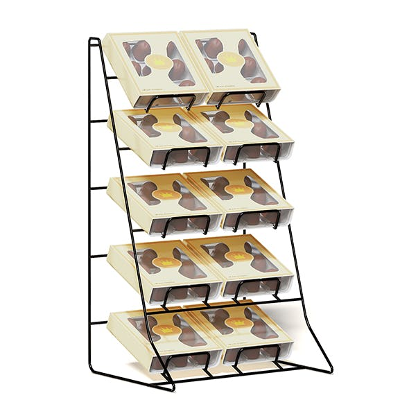 Market Rack 3D Model - Chocolates - 3DOcean Item for Sale