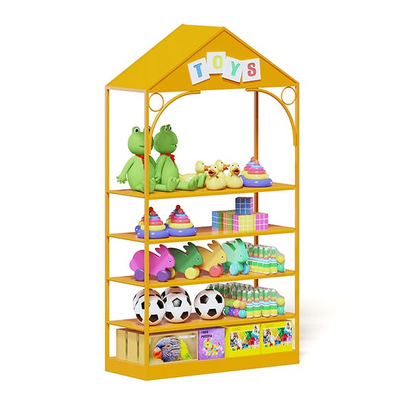 Market Shelf 3D Model - Toys - 3DOcean Item for Sale