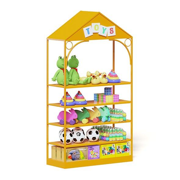 Market Shelf 3D Model - Toys