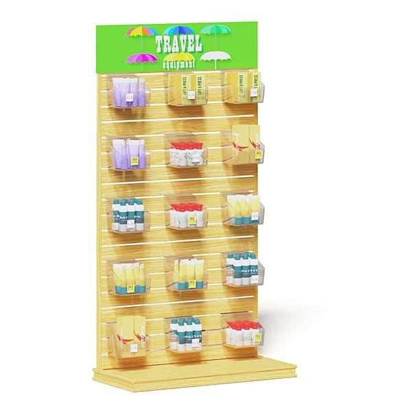 Market Stand 3D Model - Creams