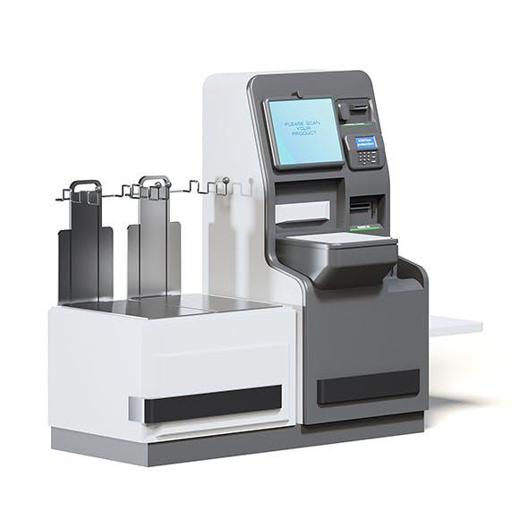 Self Service Cash Register 3D Model - 3DOcean Item for Sale