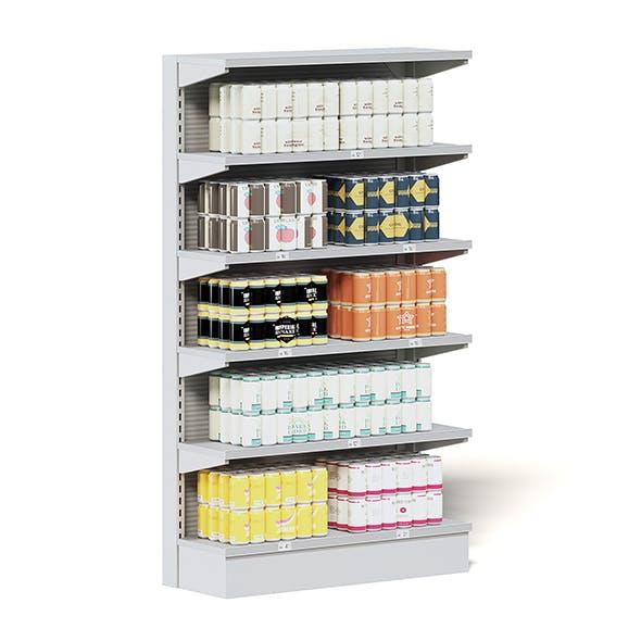 Market Shelf 3D Model - Canned Beer
