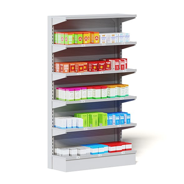 Market Shelf 3D Model - Medicine - 3DOcean Item for Sale