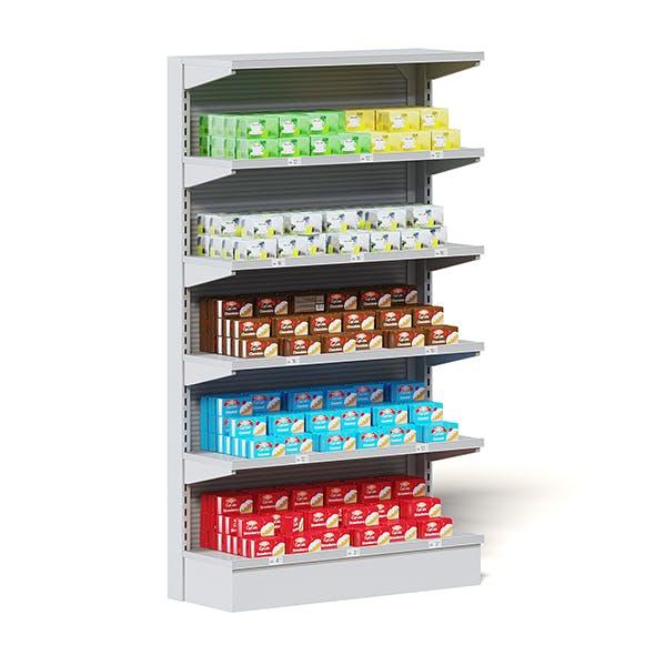 Market Shelf 3D Model - Tea and Cookies - 3DOcean Item for Sale