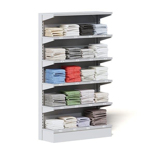 Market Shelf 3D Model - Towels - 3DOcean Item for Sale