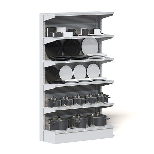 Market Shelf 3D Model - Plates and Pots - 3DOcean Item for Sale