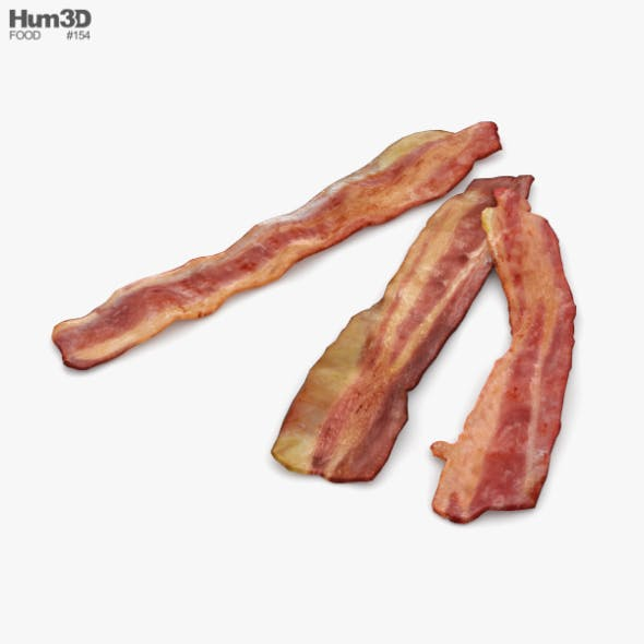 Fried Bacon - 3DOcean Item for Sale
