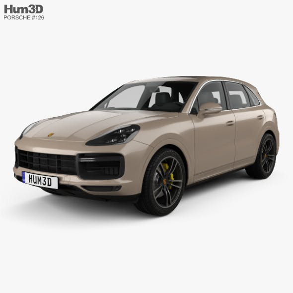 Porsche Cayenne Turbo 2017 - 3DOcean Item for Sale