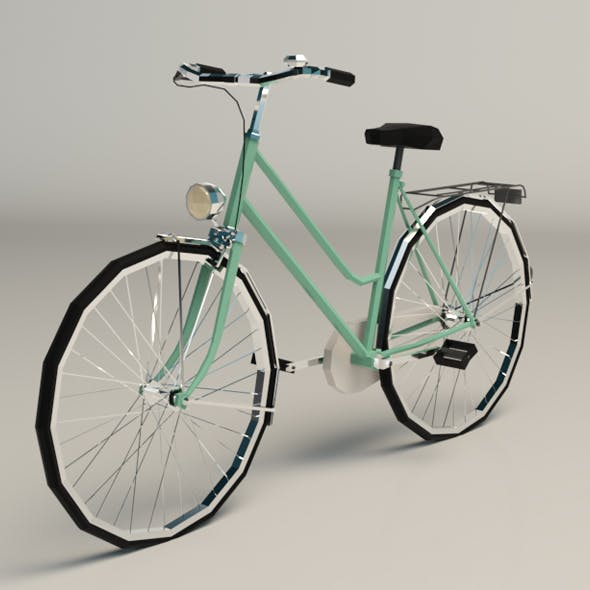 Low Poly Ladies Bike