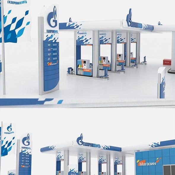Gasprom petrol Station
