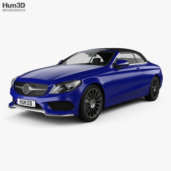 Mercedes-Benz C-class (A205) convertible AMG line 2016 - 3DOcean Item for Sale