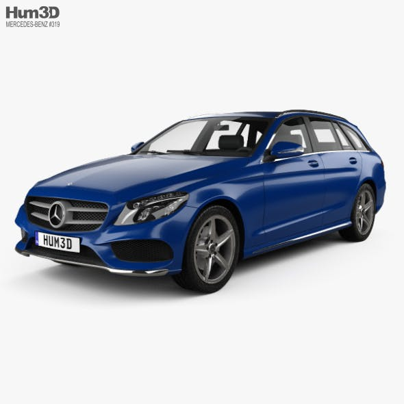 Mercedes-Benz C-Class (S205) estate AMG line 2014 - 3DOcean Item for Sale