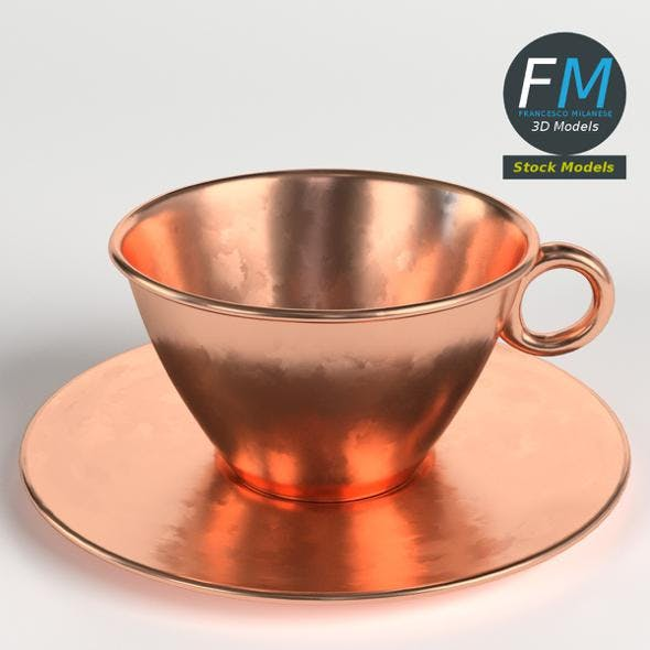 Pure copper tea cup - 3DOcean Item for Sale